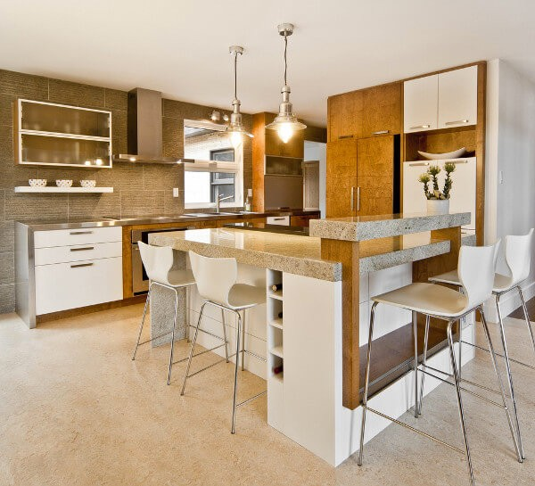 kitchen flooring trends sink replacement home 2018 the pros guide source studio853 ca this mottled marmoleum pattern cleverly mimics soft veining of limestone tiles