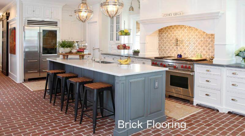 brick floor kitchen cheap cabinet flooring read this before you buy homeflooringpros com pros and cons options where to prices