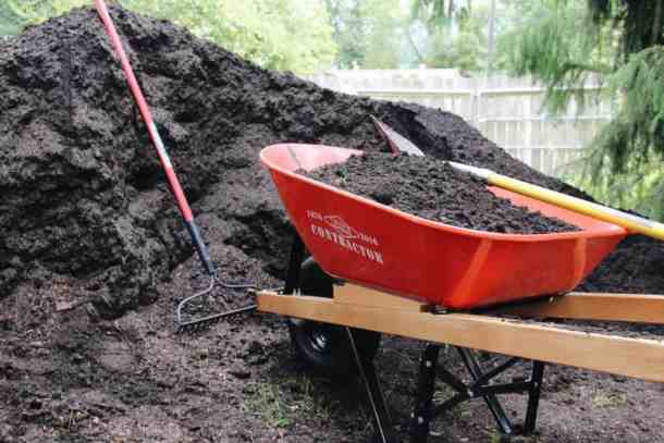 Topsoil in Wheelbarrow   Home for the Harvest Gardening Blog