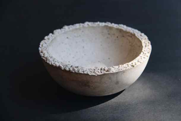 Simple Concrete Bowl   Home for the Harvest