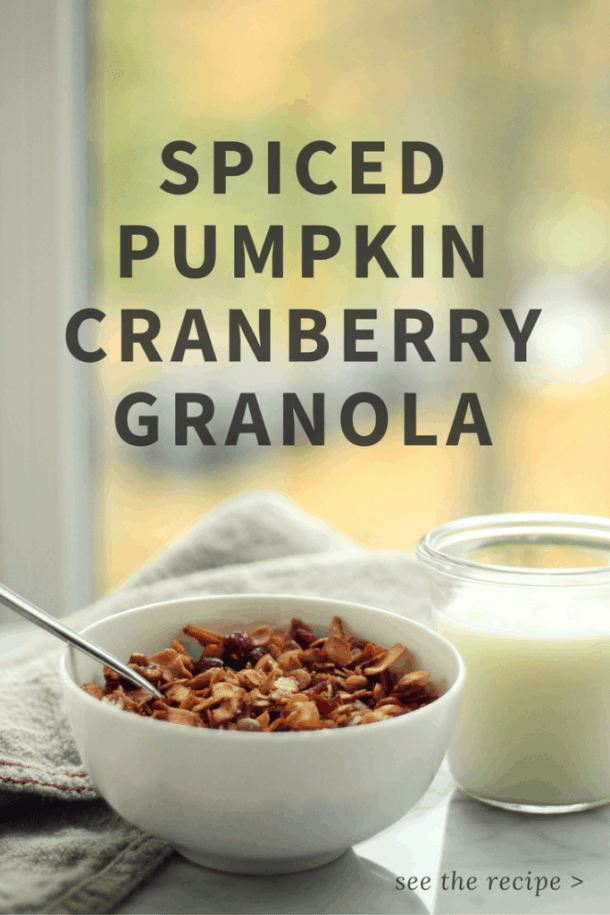 Spiced Pumpkin Cranberry Granola | Home for the Harvest