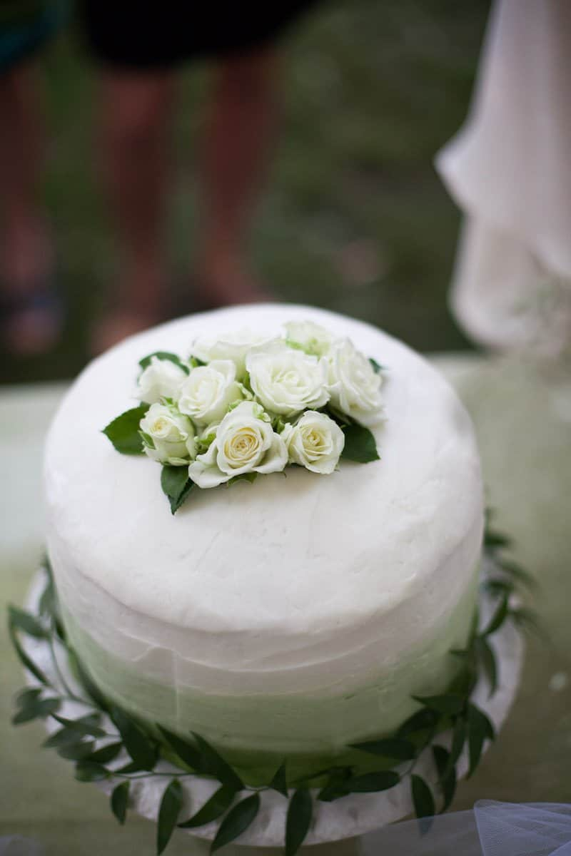Garden Wedding Cake | Home for the Harvest - by Lightwell Photo