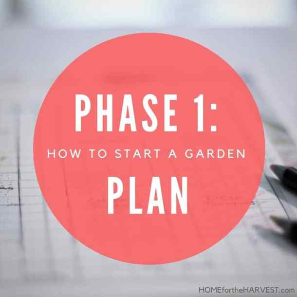 Phase 1: Plan the Garden - How to Start a Garden   Home for the Harvest