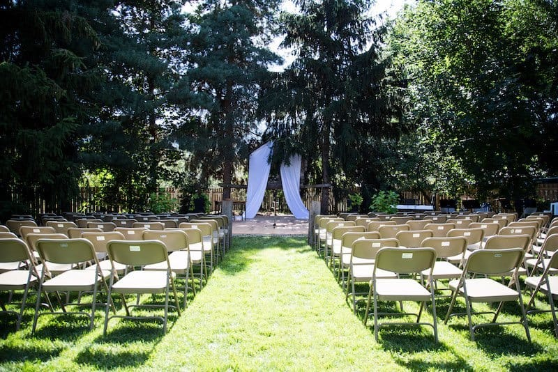 Backyard Wedding Ceremony and Reception | Home for the Harvest - Photo by Lightwell Photography