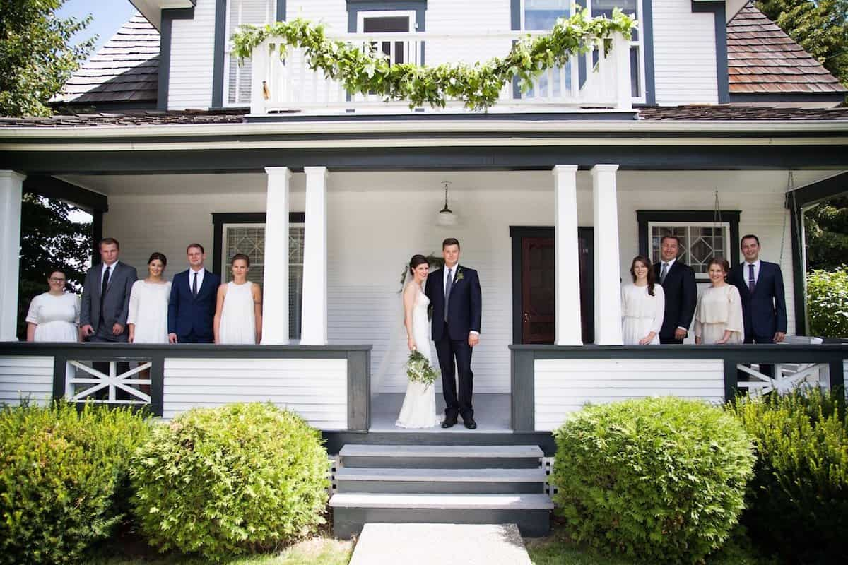 a simple backyard wedding ceremony and reception