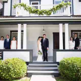 A Simple DIY Backyard Wedding - Heritage Home Wedding Party | Home for the Harvest - by Lightwell Photo