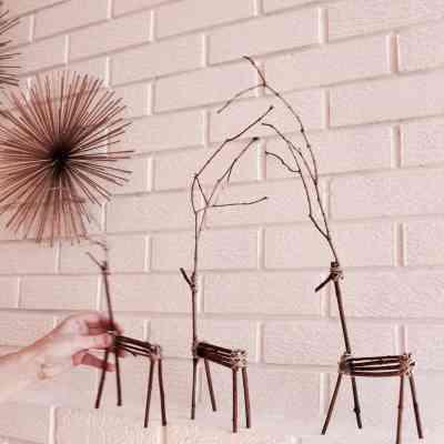 How to Make Twig Reindeer