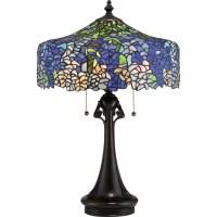Cobalt Blue Wisteria Tiffany lamp - Home Furnishers