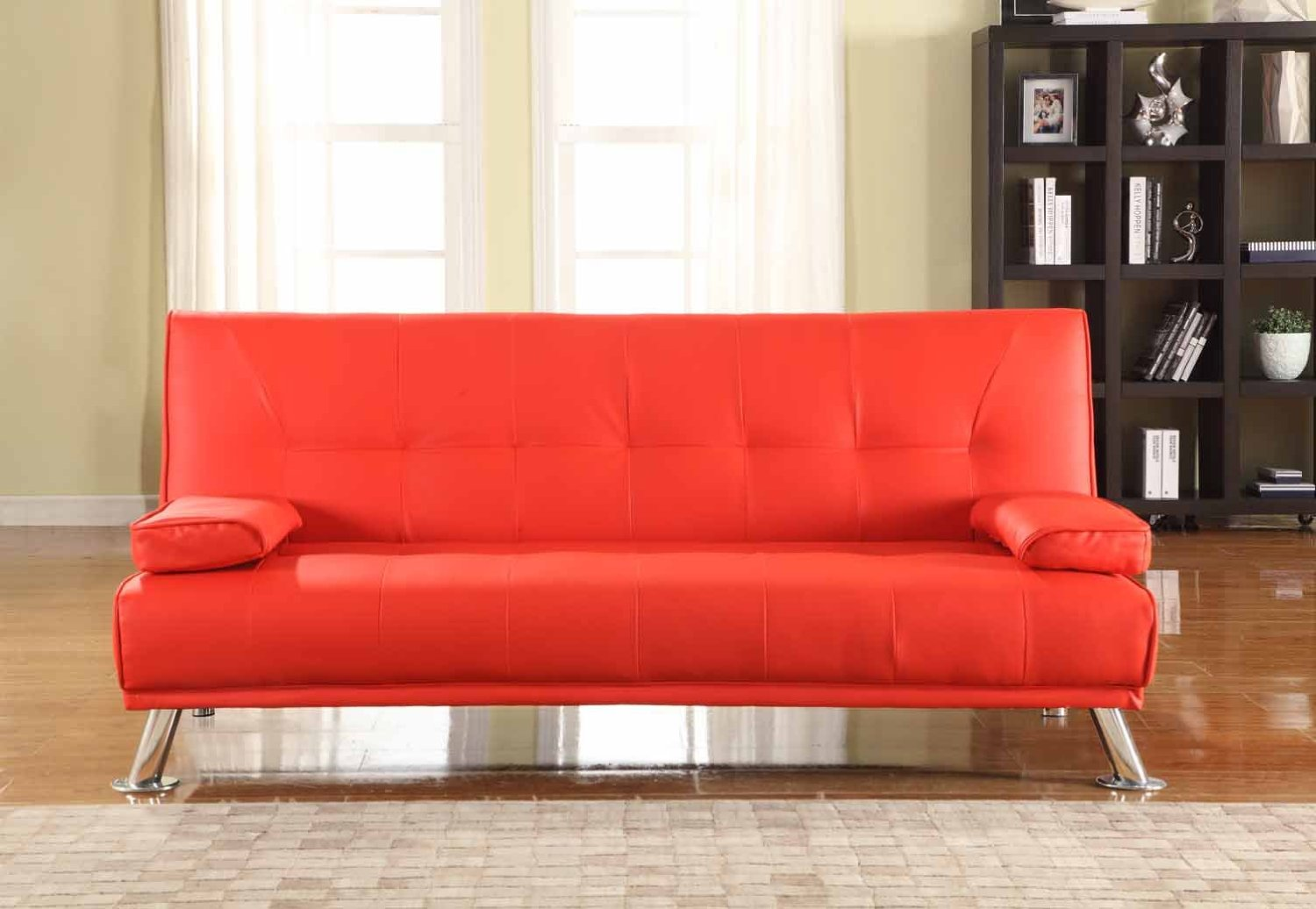 Free delivery on orders over £50. Milan Red Sofa Bed