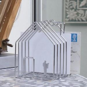 House shaped letter rack