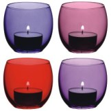 Berry red tealight holder