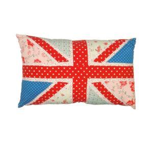 Shabby chic vintage union jack cushion