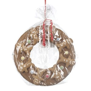 Iced Christmas gingerbread wreath