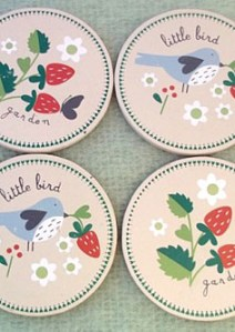 Gisela Graham bird coaster set