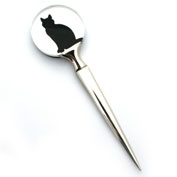 Cat silhouette letter opener: Gift idea for under £10