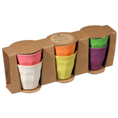 Bargain alert: Set of 6 Zuperzozial recycled bamboo cups