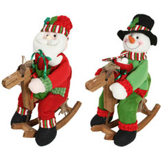 Santa snowman christmas decorations