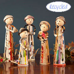 Handmade traditional nativity set