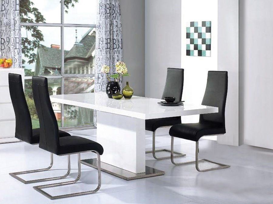 Black And White Dining Room Sets