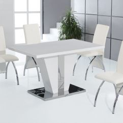 White Dining Chairs Set Of 4 All Weather Rocking Chair Full High Gloss Table And