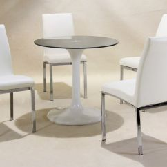 Small Round Chair Gaming Rocker White High Gloss Glass Dining Table And 4 Chairs