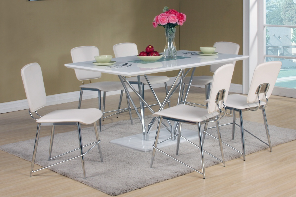 white high gloss dining table 6 chairs purple office and matching
