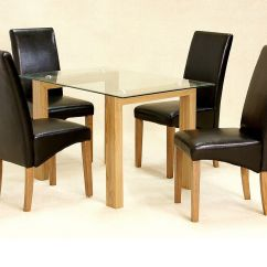 Compact Dining Table And Chairs Spandex Chair Covers Amazon Glass 4 Clear Small Set Oak Wood