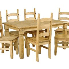 Mexican Dining Room Table And Chairs Computer Chair Office Max Large Pine Wooden 6 Homegenies