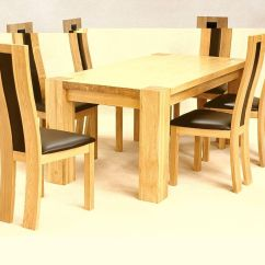 Kitchen Table Chairs Set Farmers Sinks For Solid Wooden Rectangle Dining And 6 Homegenies