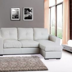 Corner Sofa Bed White Leather Table With Storage Ikea Modern Suite Bonded Black