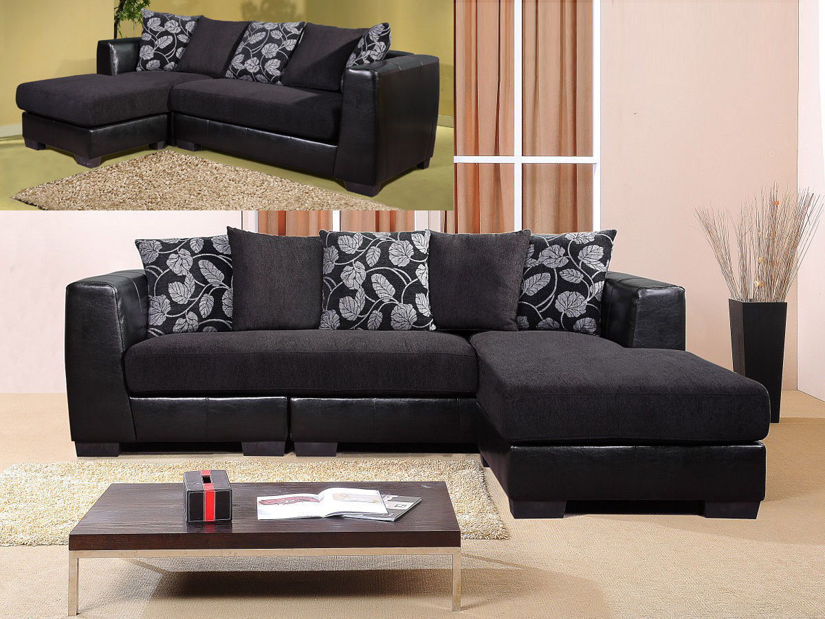 leather fabric mix sofas uk white sofa cleaning tips black 3 seater chaise suite faux