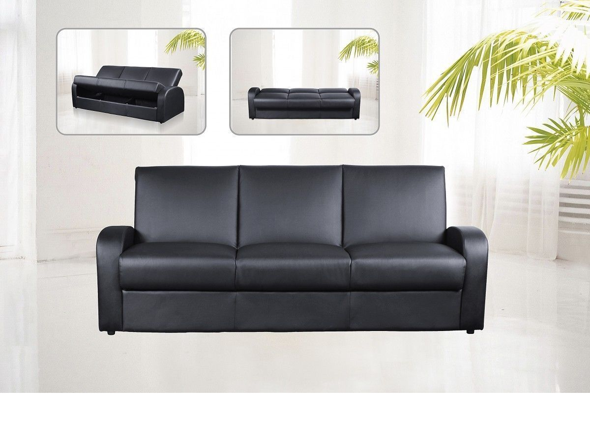 leather 3 seat sofa bed budget outdoor faux seater black brown cream