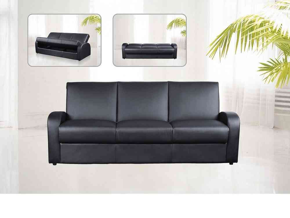 faux leather sofa bed uk large sectional 3 seater black brown cream homegenies
