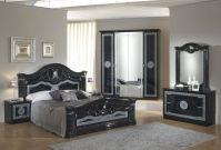 Black italian high gloss bedroom furniture set - Homegenies