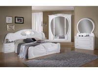 White italian high gloss bedroom furniture set - Homegenies