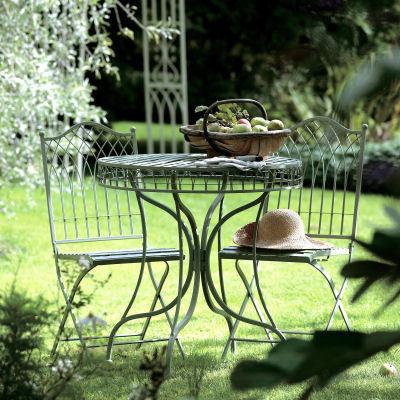green metal bistro chairs room essentials chair garden set homegenies
