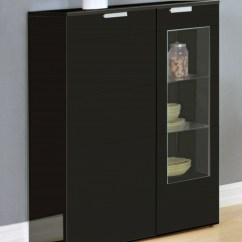 White Sideboards For Living Room Chandeliers Modern Black High Gloss Dining Cabinet - Homegenies