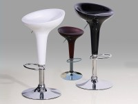 High Gloss Kitchen Bar Stools in black, white, red