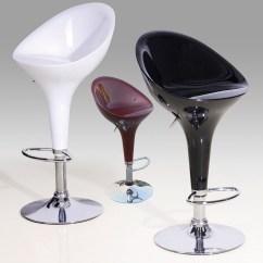Kitchen Breakfast Bar Stools Glass Cabinets High Gloss X2 Homegenies