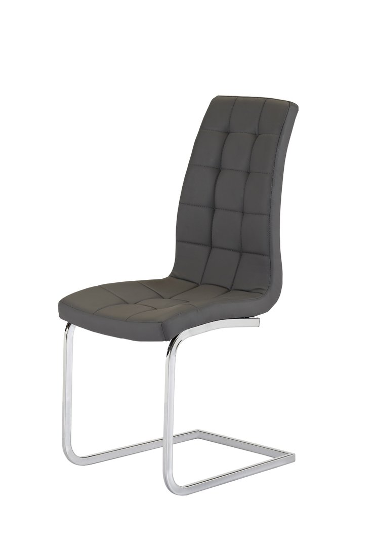 grey bedroom chair uk party rentals chairs faux leather dining pair - homegenies