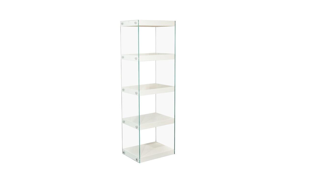 Glass Shelving Unit Black, White, Red, Grey High Gloss Shelves