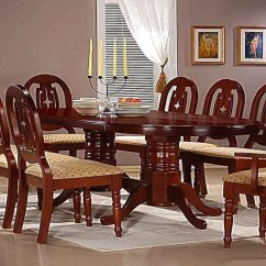 2 Seater Kitchen Table Set Upgrade Mahogany Dining With 6 Chairs And Carvers - Homegenies