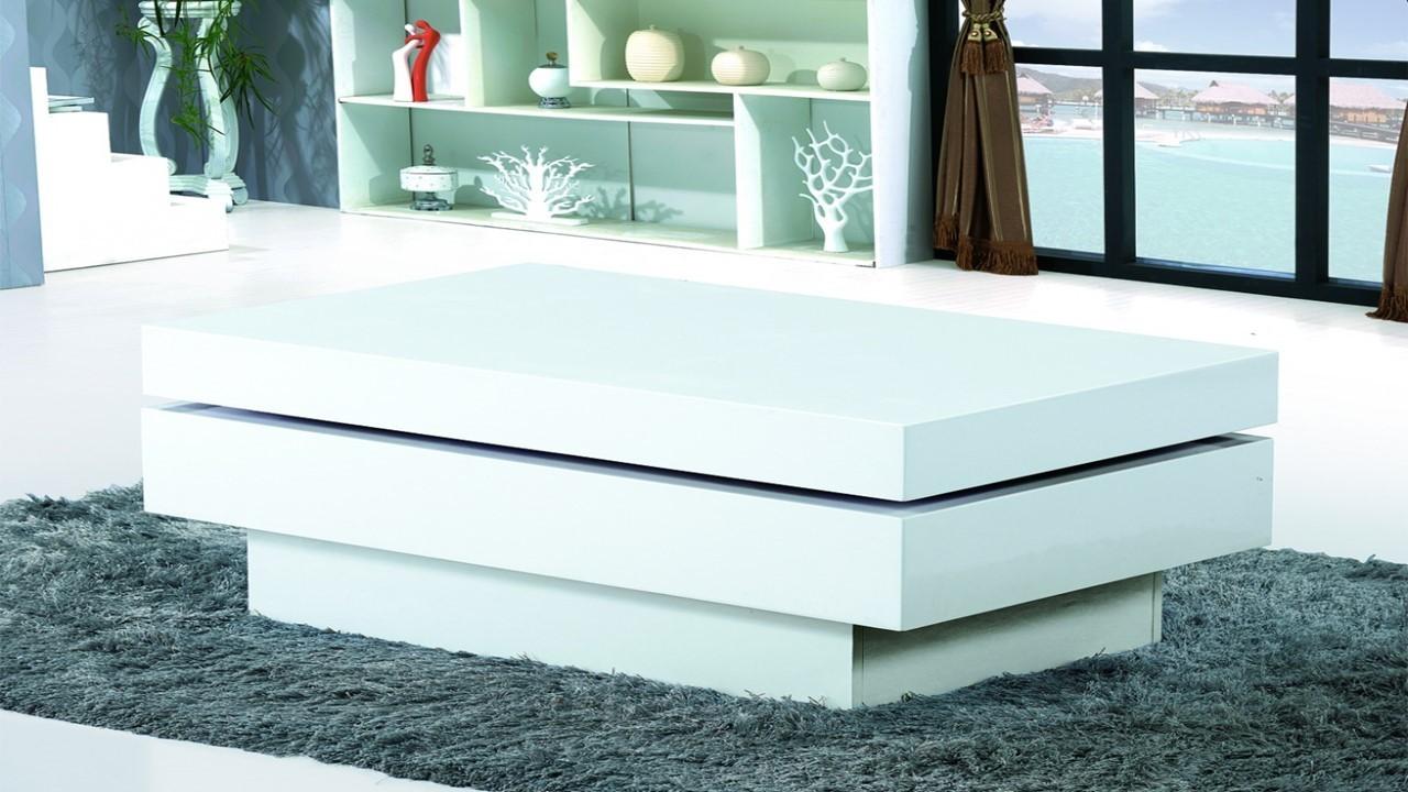 modern white gloss coffee table