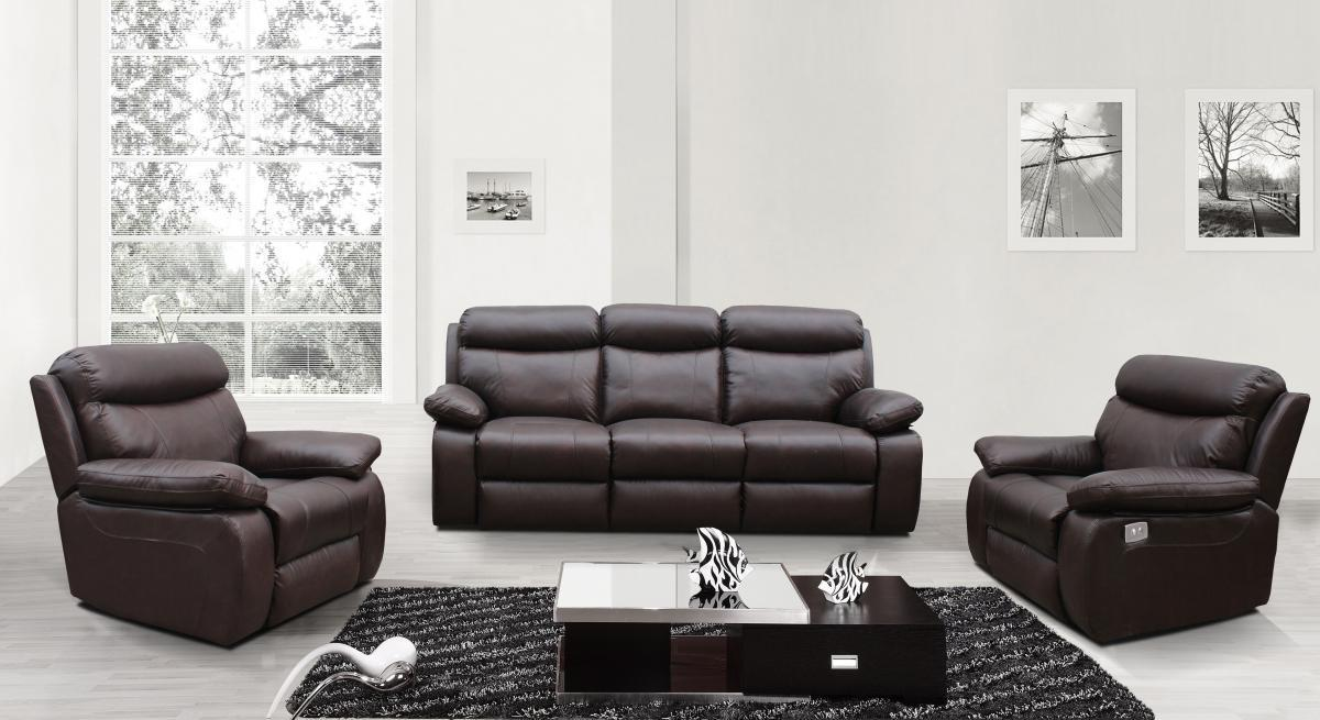 electric sofa set 2 seater outdoor recliner in chocolate brown homegenies