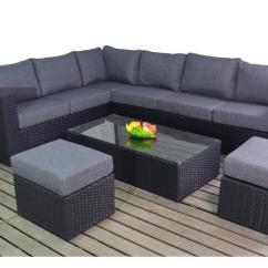 6pc Milan Modular Rattan Corner Sofa Set Mathis Brothers Sofas Black Www Elderbranch Com Prestige Left Large Homegenies