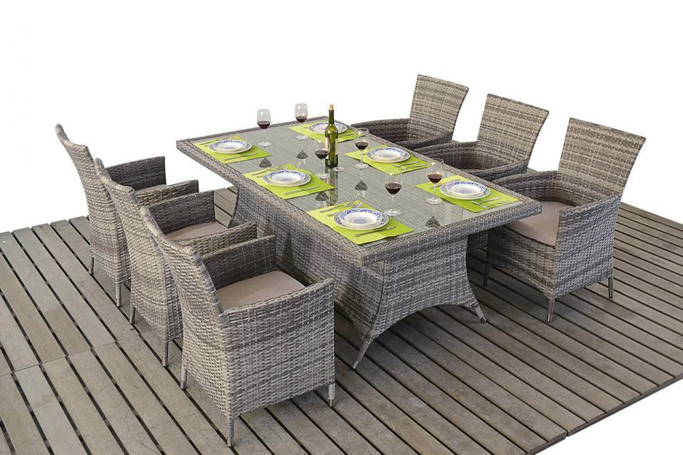 rattan table and chairs purple modern chair rustic grey dining homegenies