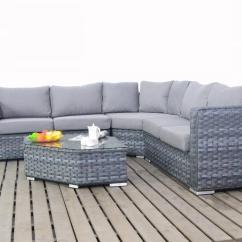 Rattan Garden Corner Sofas Uk Best Way To Clean Sofa Upholstery Platinum Grey Angle Coner Set - Homegenies