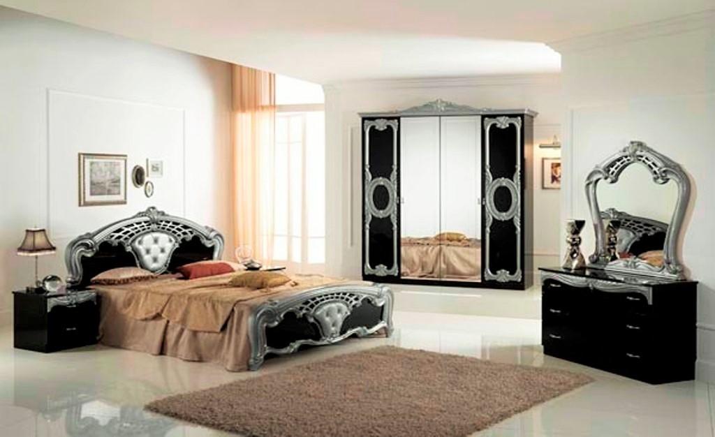 High Gloss Black Amp Silver Italian Bedroom Furniture