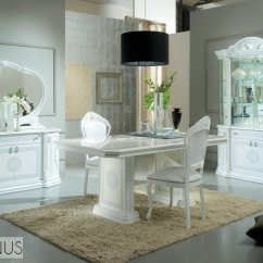 Marble Kitchen Table Set Slide Out Organizers Cabinets White Italian High Gloss Dining And Chairs ...