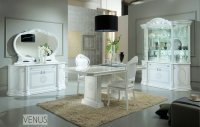 White italian high gloss dining table and chairs ...